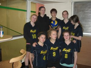 A volleyball team pic from a 6aside tournament a couple of years ago. It looks like the volleyball is floating above my hands, it amused me...I look like a magician xD