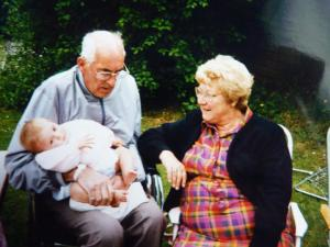 Me with my grandma and grandad. We lived with them in Buckinghamshire until both passed away and we moved to Devon