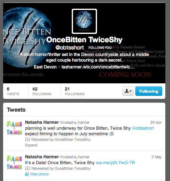 My film's twitter page
