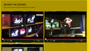 behind the scenes clips, soon to include outtakes