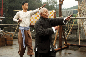 Ip Chun playing one of Ip Man's three wing chun tutors