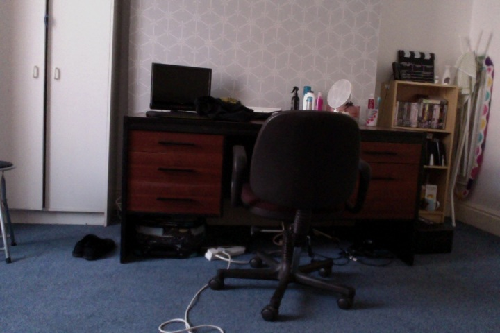 Part of my huge new room...in a bit of a mess from just moving in